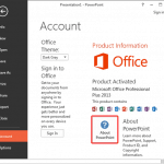 Repair, Install, and Update PowerPoint and Office: Determine if SP1 is Installed within PowerPoint