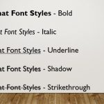 Fonts: Format Font Attributes (Styles) in PowerPoint