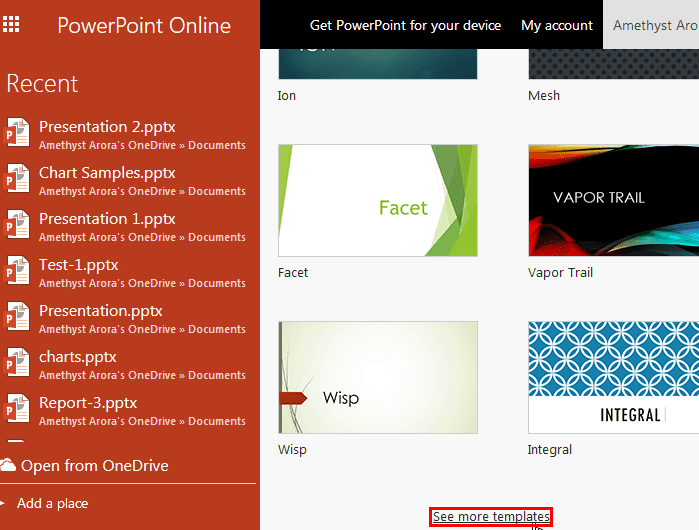 Get More Templates and Themes in PowerPoint