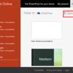 Upload Presentations in PowerPoint Online