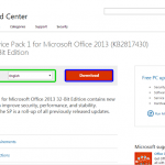 Update Office 2013 to Service Pack 1