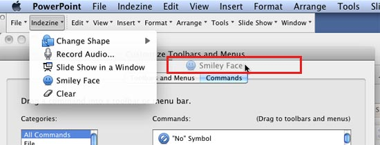 Add and Remove Menu Commands in PowerPoint