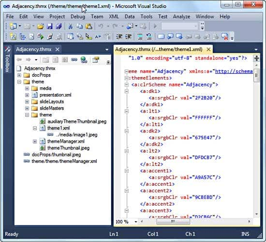 XML Editing in Visual Studio