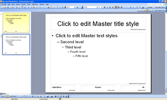 Creating and Renaming Slide Masters in PowerPoint