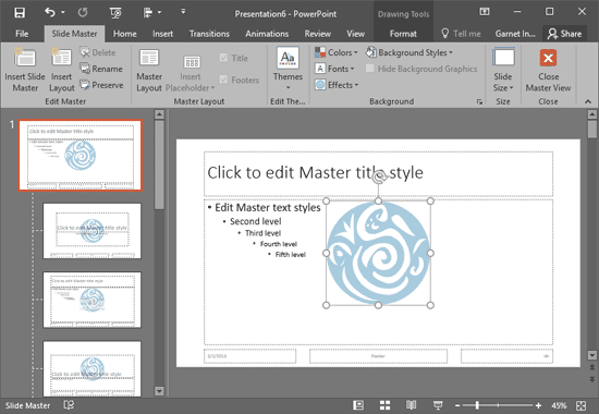 Add Your Logo or Graphic to the Slide Master in PowerPoint