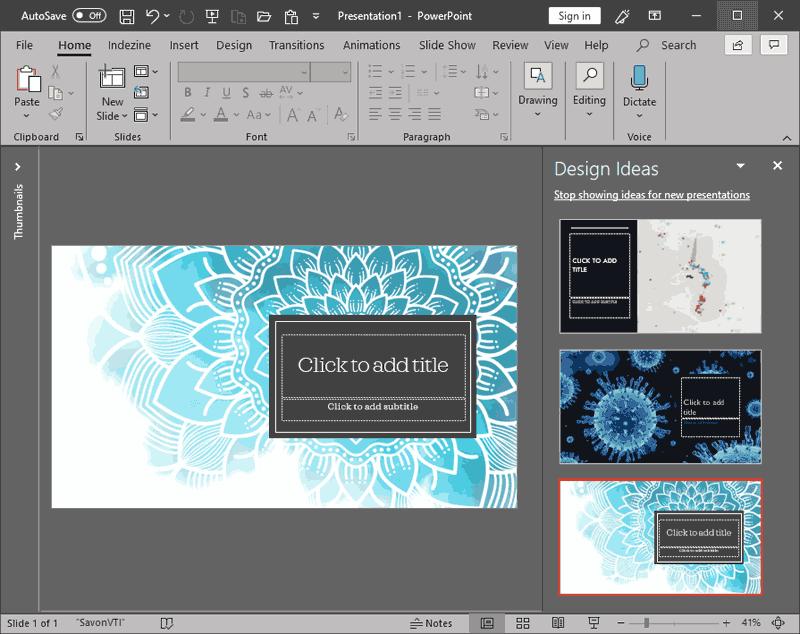 PowerPoint Designer in PowerPoint