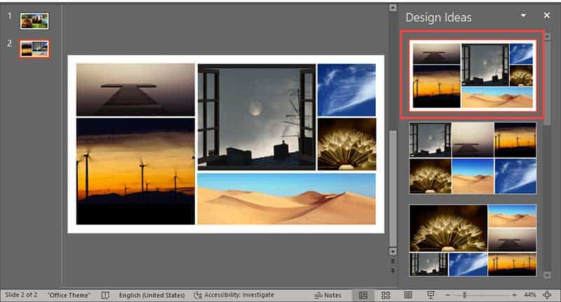 Working with Pictures in PowerPoint Designer in PowerPoint