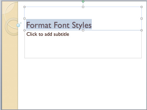 Font Collections in PowerPoint