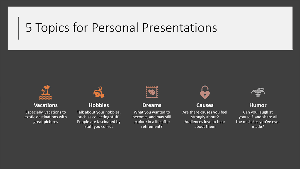 SmartArt With Icons from PowerPoint Designer in PowerPoint