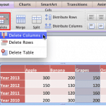 Add and Remove Table Rows/Columns in PowerPoint