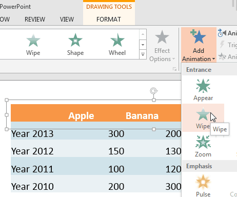 Animate Ungrouped Tables in PowerPoint