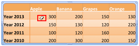 Erase Table Borders in PowerPoint