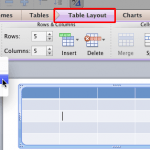 Table Cells: Select Table Cells, Rows, and Columns