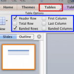 Table Style Options in PowerPoint