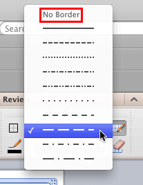 Set Line Style for Table Borders in PowerPoint