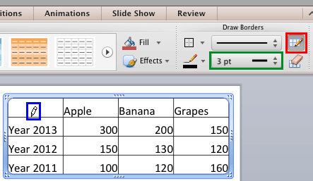 Set Line Weight for Table Borders in PowerPoint