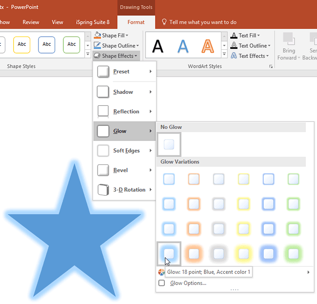 Apply Glow Effects to Shapes in PowerPoint