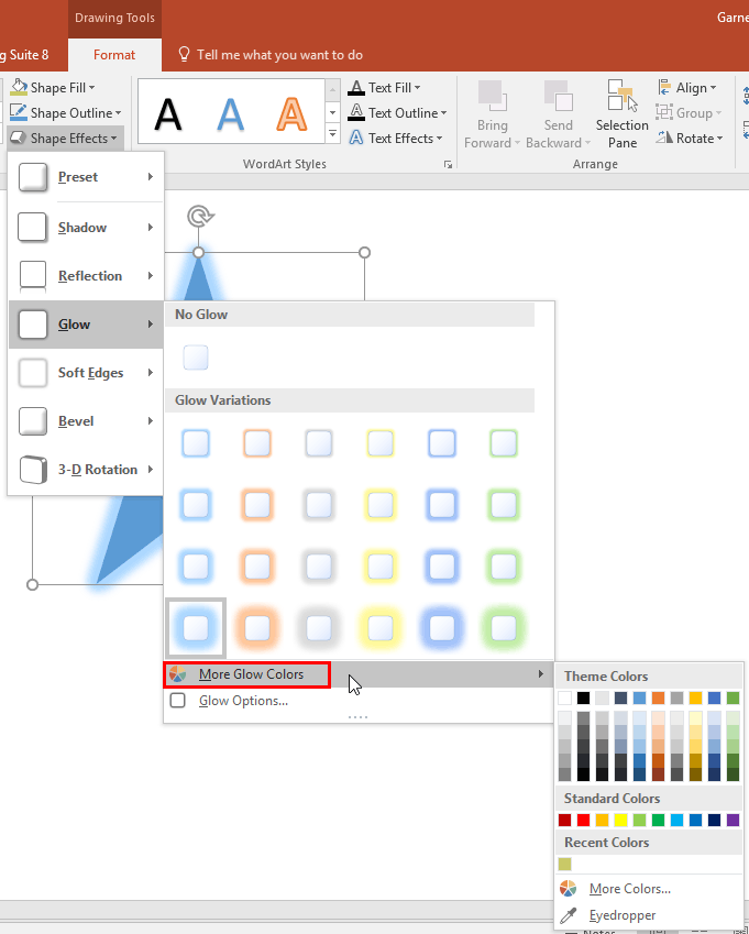 More Glow Colors in PowerPoint