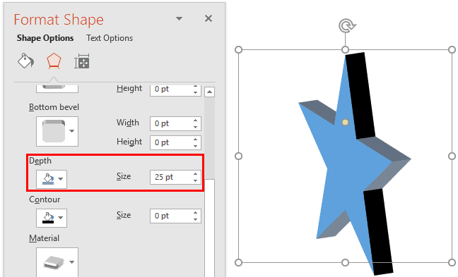 Apply 3-D Depth to Shapes in PowerPoint