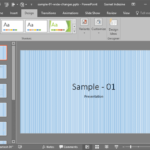 Pattern Fills for Slide Backgrounds in PowerPoint