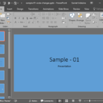 Solid Fills for Slide Backgrounds in PowerPoint