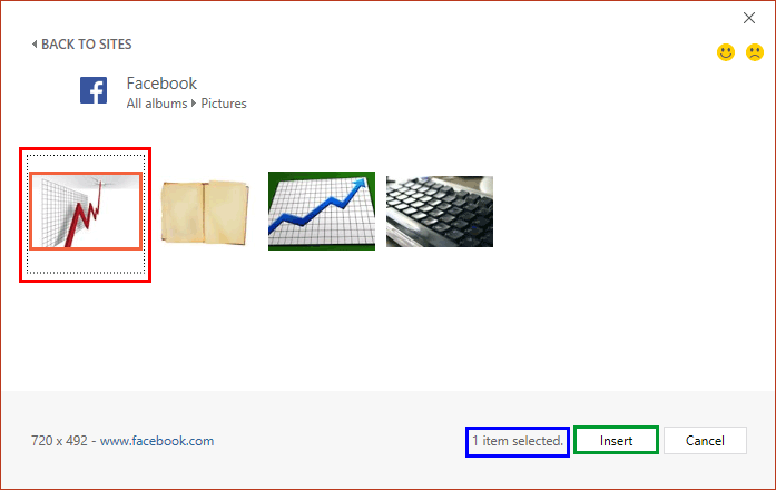 Insert Pictures from Facebook in PowerPoint