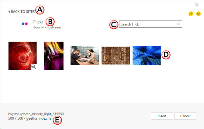 Insert Pictures from Flickr in PowerPoint