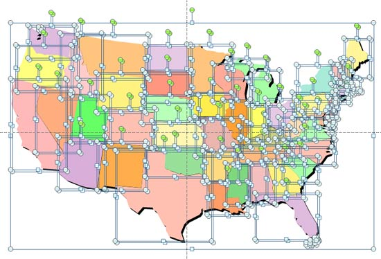 Ungrouping Maps in PowerPoint