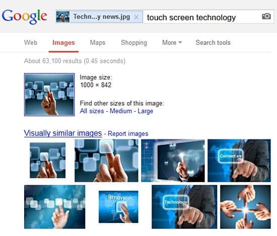 Google's Image Source Search