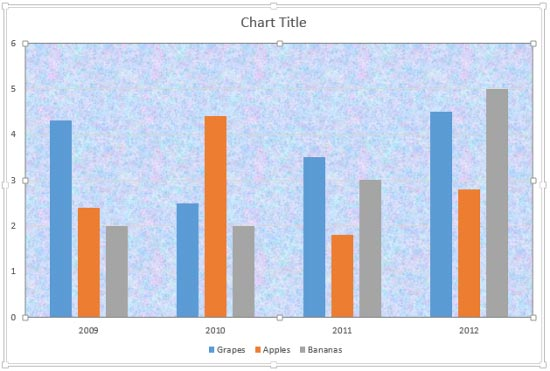 Apply Texture Fills to Plot Area of Charts in PowerPoint